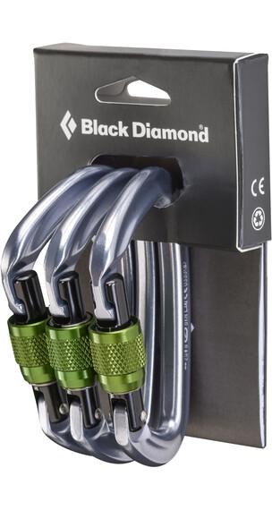 Black Diamond Positron Screwgate Carabiner 3-Pack